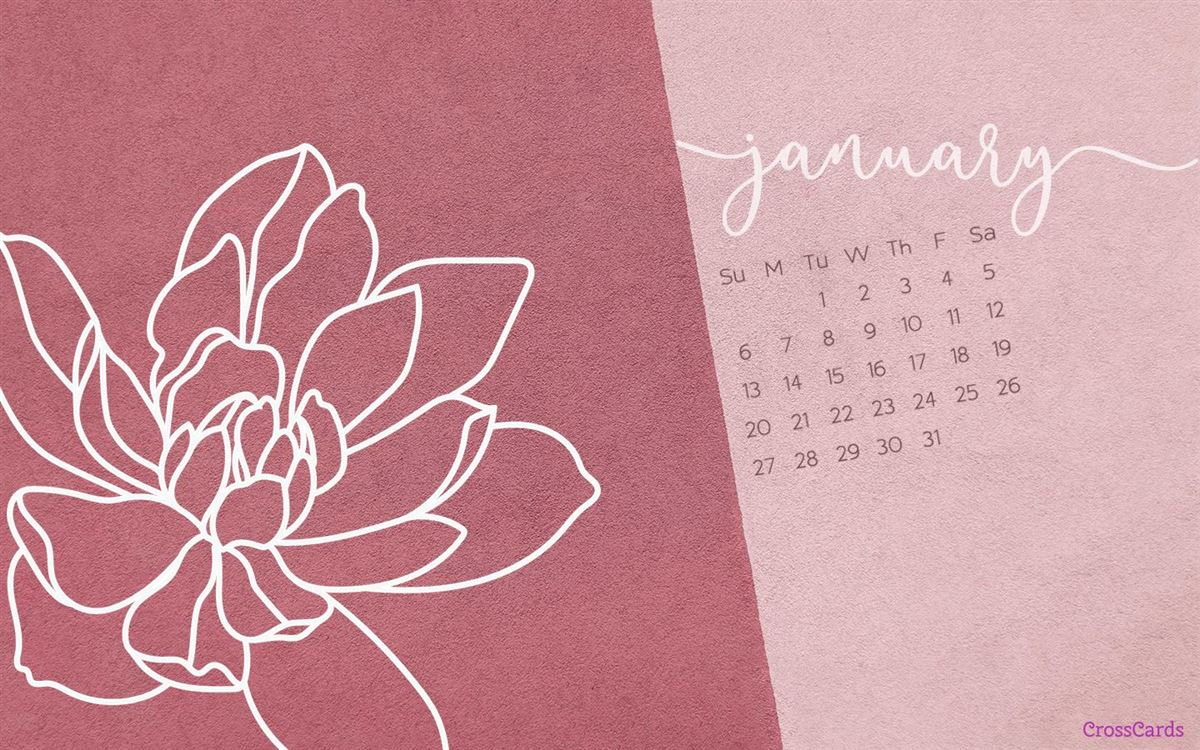 January 2019 - Flower ecard, online card