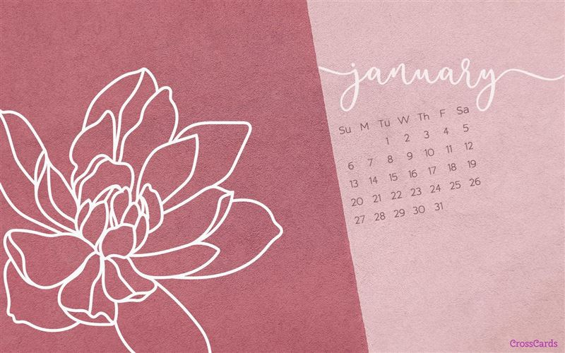 January 2019 - Flower mobile phone wallpaper