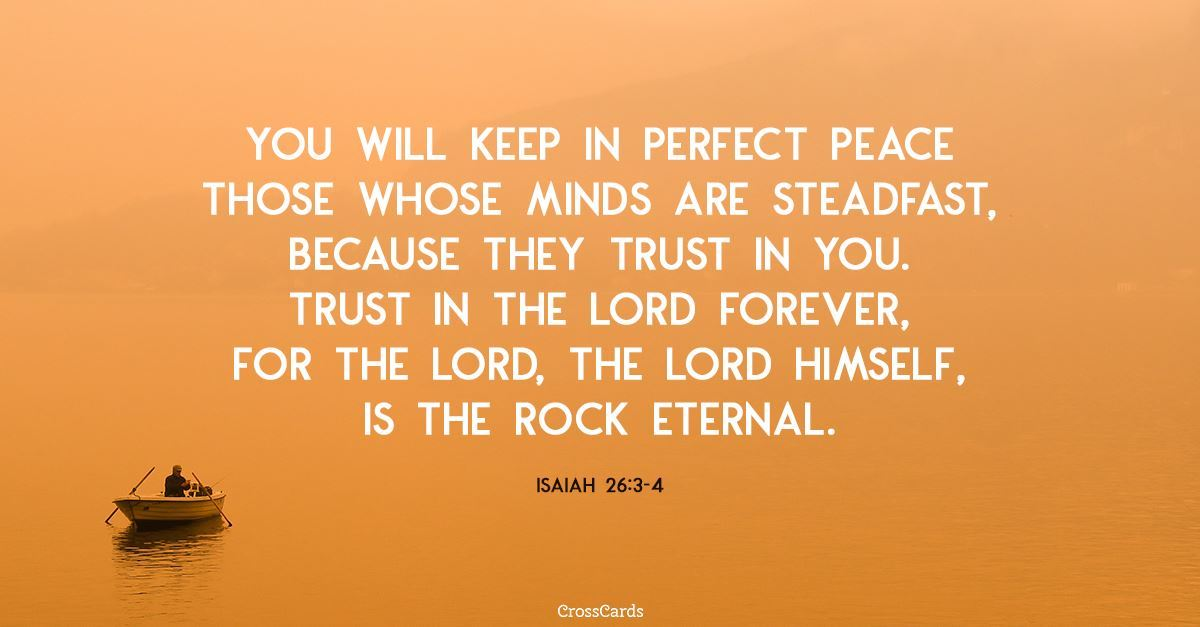Isaiah 26:3-4 ecard, online card