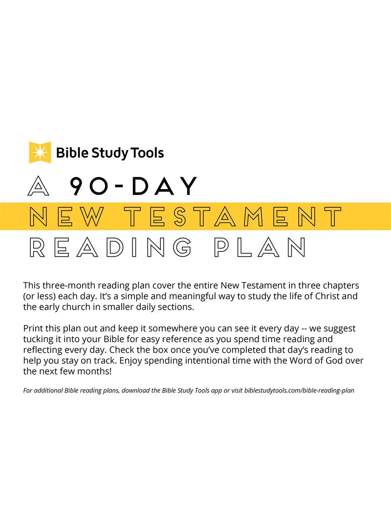 A 90-Day New Testament Reading Plan