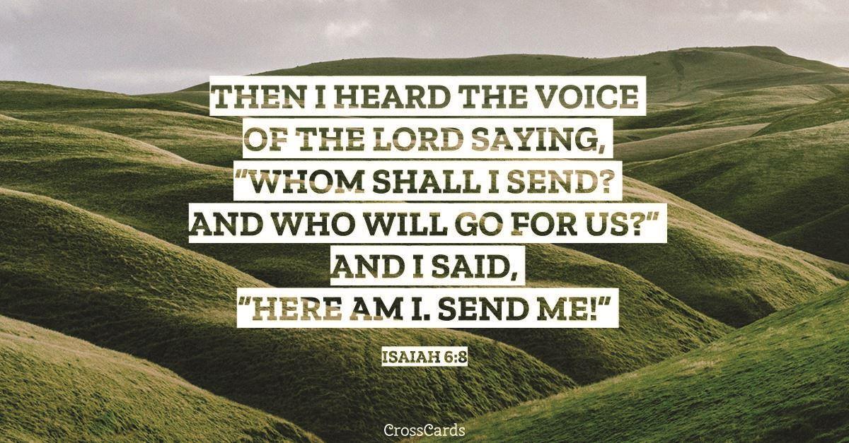 Isaiah 6:8 ecard, online card