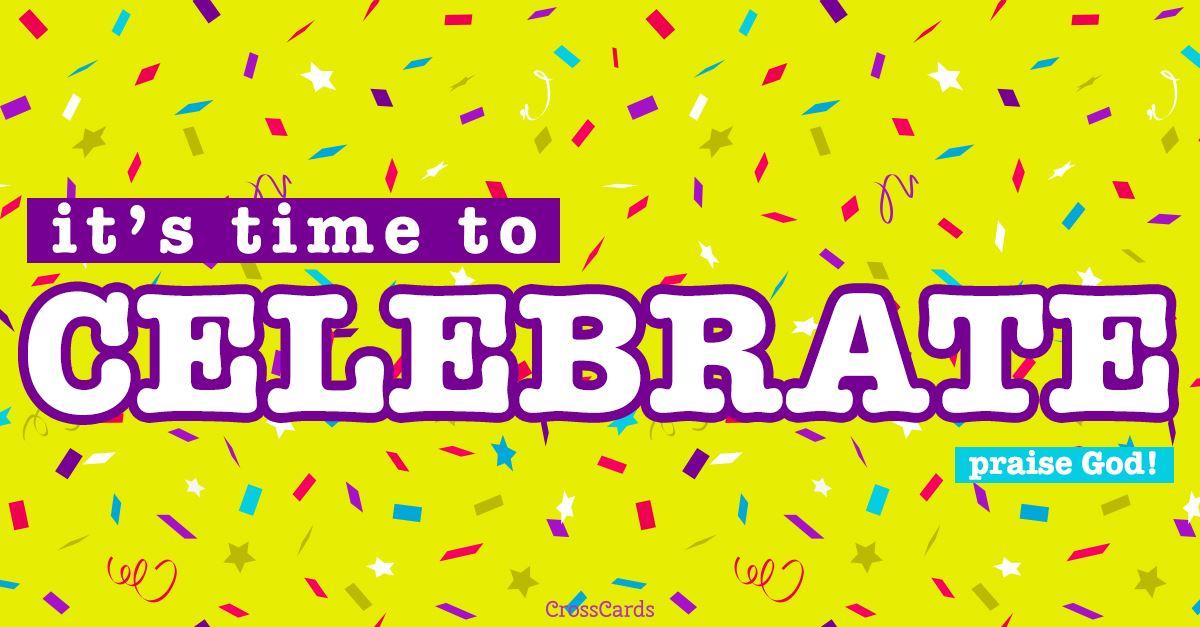Celebrate ecard, online card