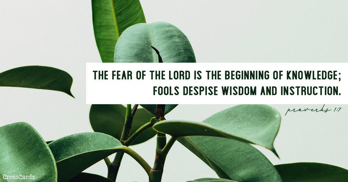 Proverbs 1:7 ecard, online card