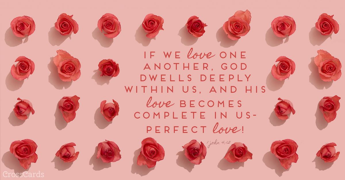 1 John 4:12 ecard, online card