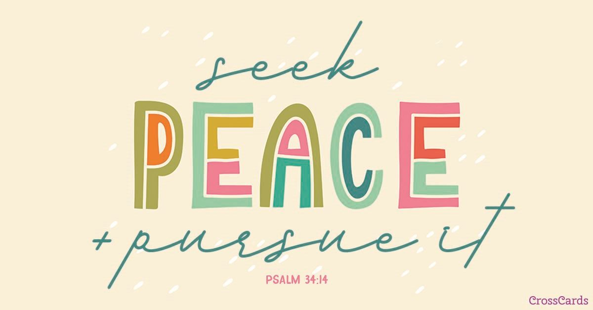Seek Peace ecard, online card