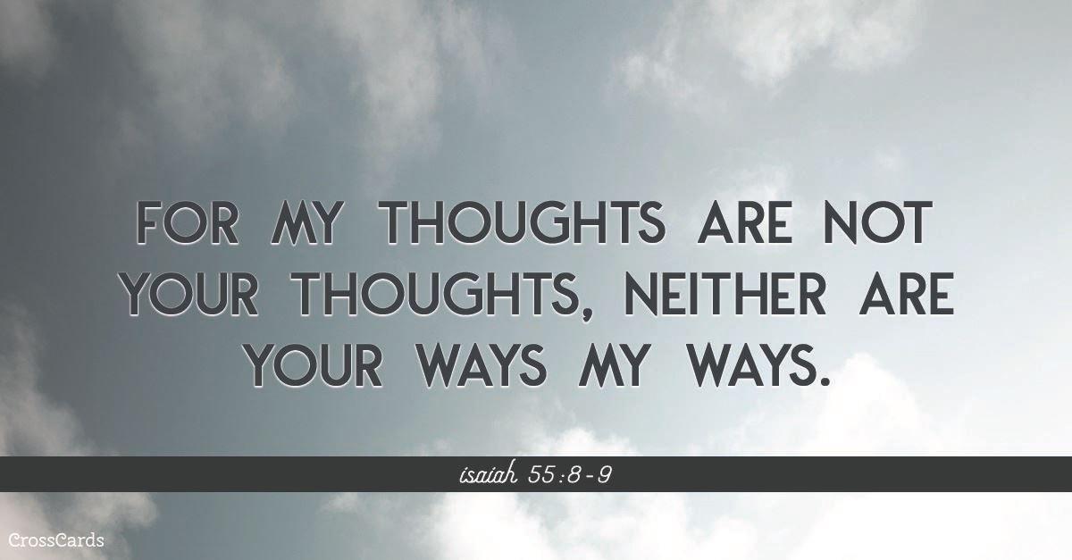 Isaiah 55:8-9 ecard, online card