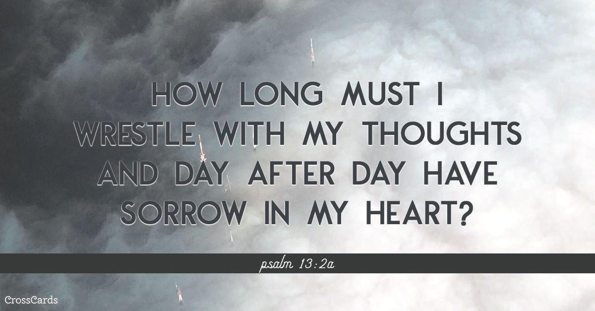 Psalm 13:2 ecard, online card