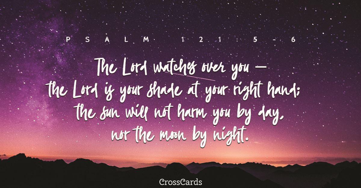 Psalm 121:5-6 ecard, online card