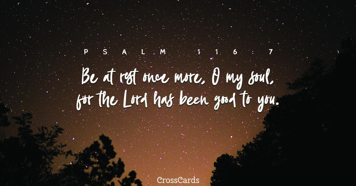 Psalm 116:7 ecard, online card