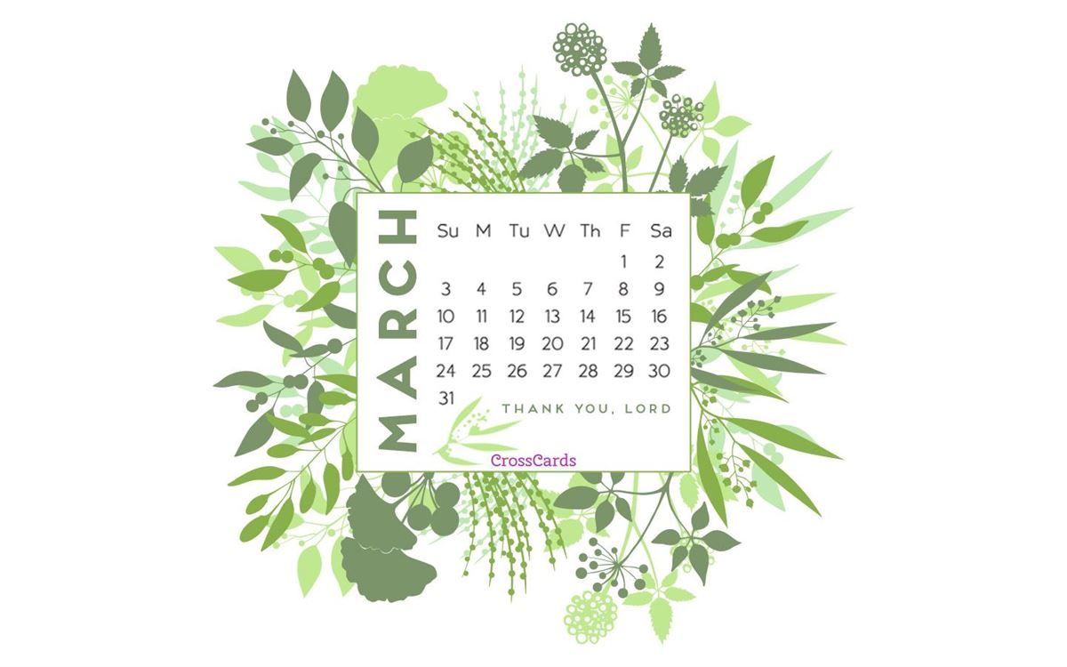 March 2019 - Greenery ecard, online card