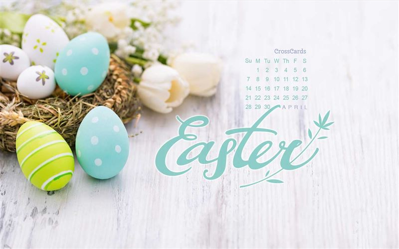 April 2019 - Easter Eggs mobile phone wallpaper