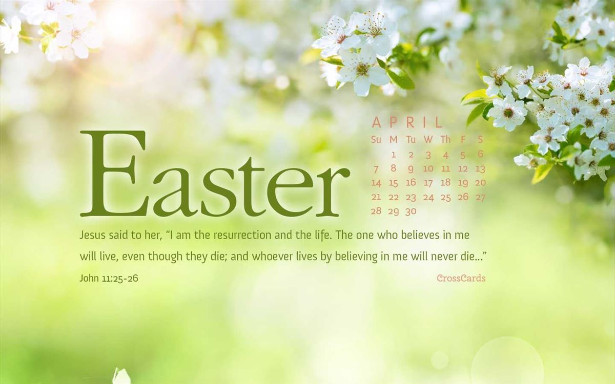 April 2019 - John 11:25-26 ecard, online card