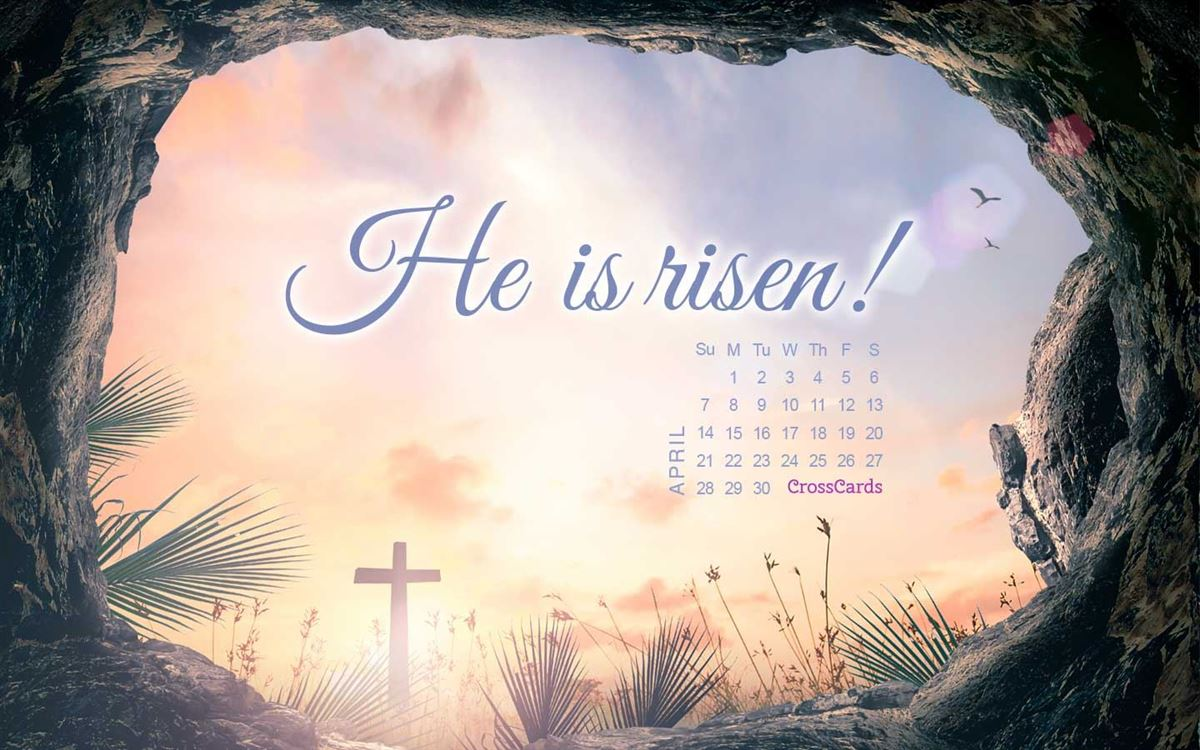 April 2019 - He Is Risen ecard, online card