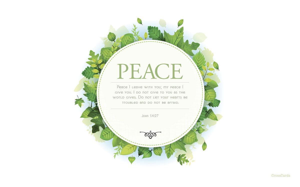 Peace I Leave You With - John 14:27 ecard, online card