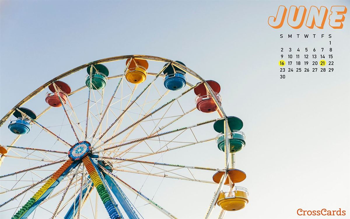 June 2019 - Ferris wheel ecard, online card