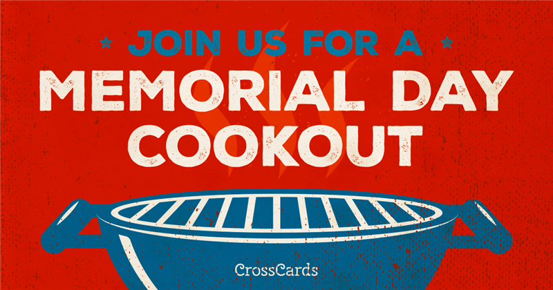 Memorial Day barbecue ecard, online card