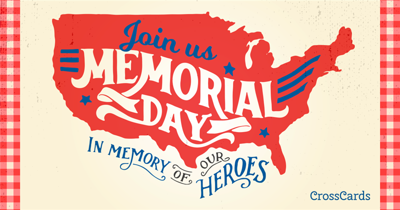 Memorial Day heroes ecard, online card
