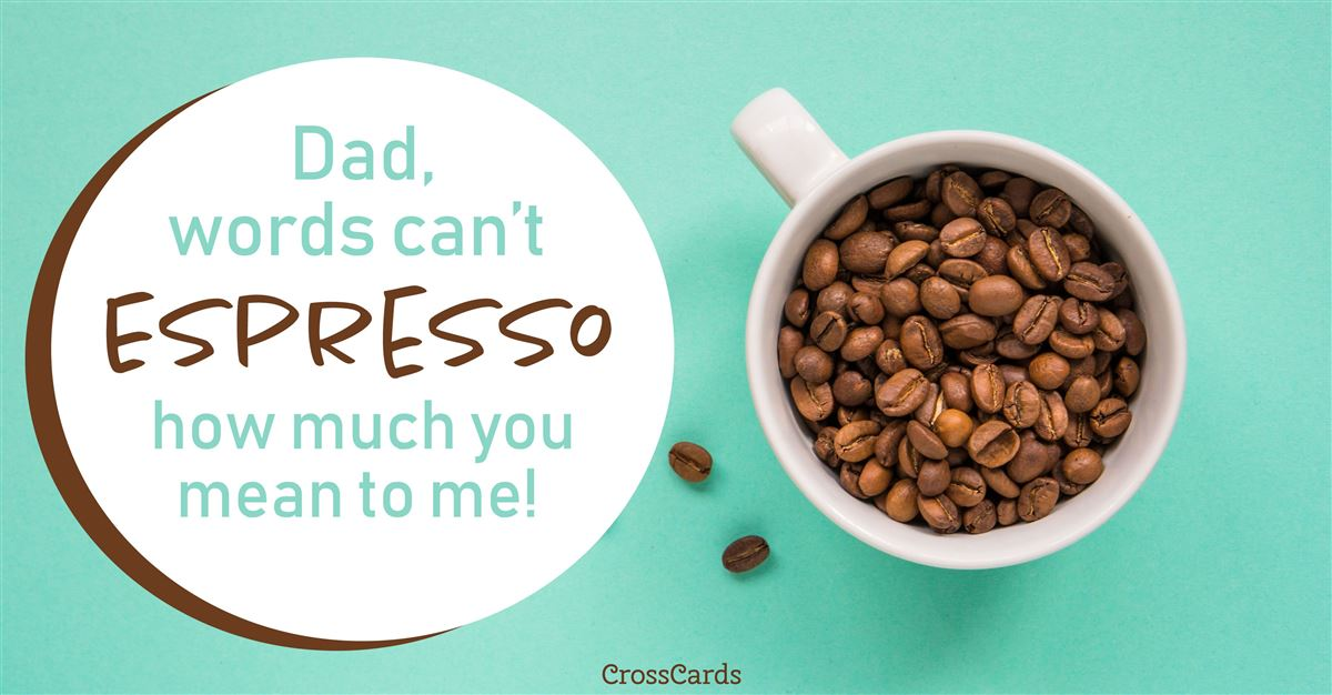 Father's Day coffee ecard, online card