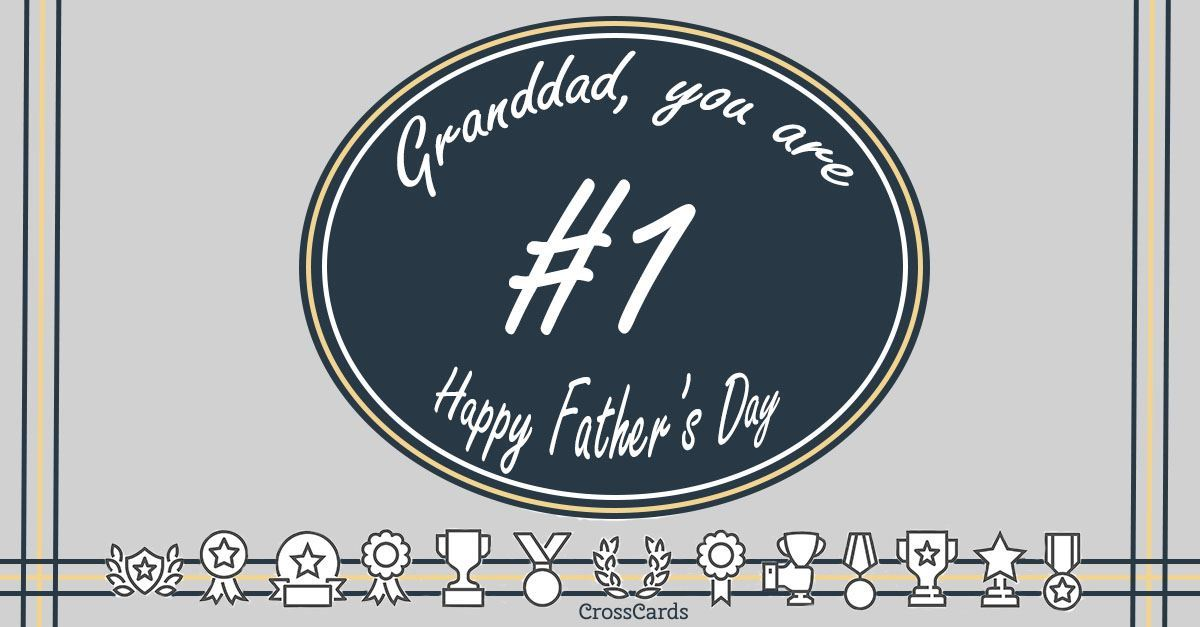 Happy Father's Day Granddad ecard, online card