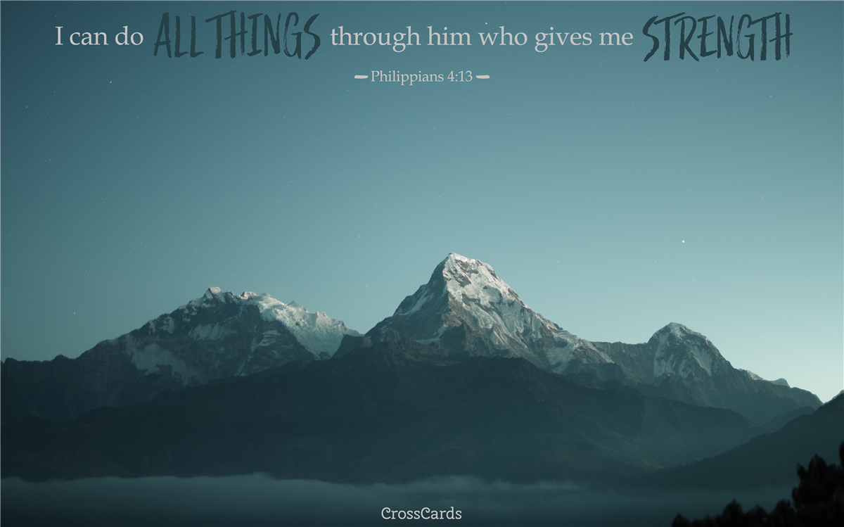 Philippians 4:13 Mountaintop ecard, online card