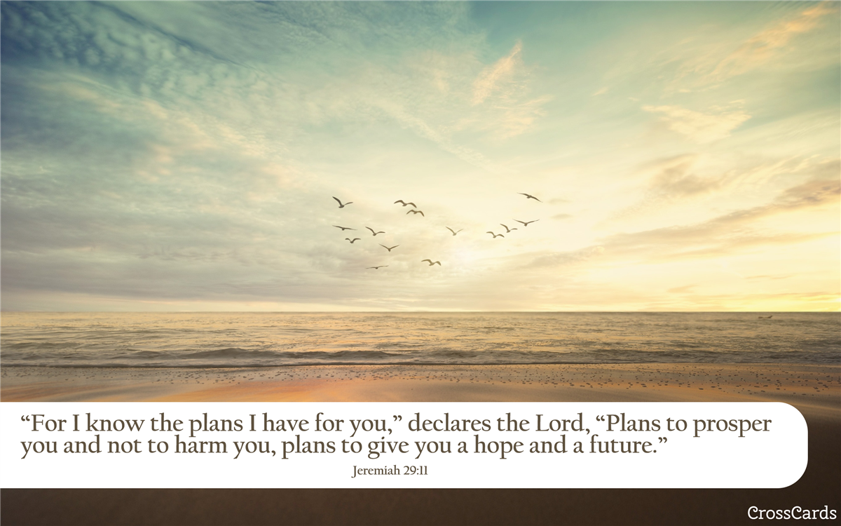 Jeremiah 29:11 A Hope and a Future ecard, online card