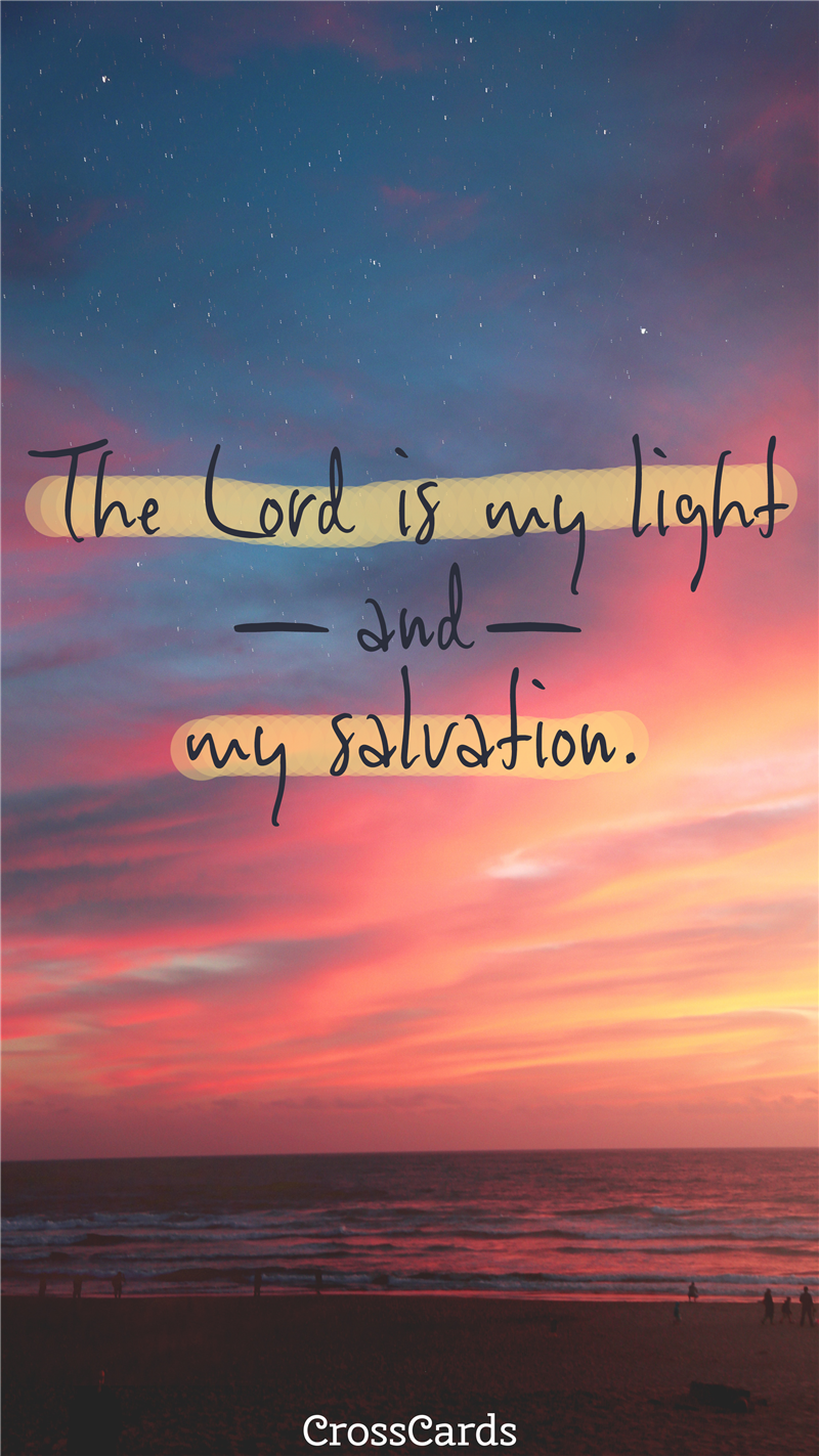 The Lord is My Light mobile phone wallpaper