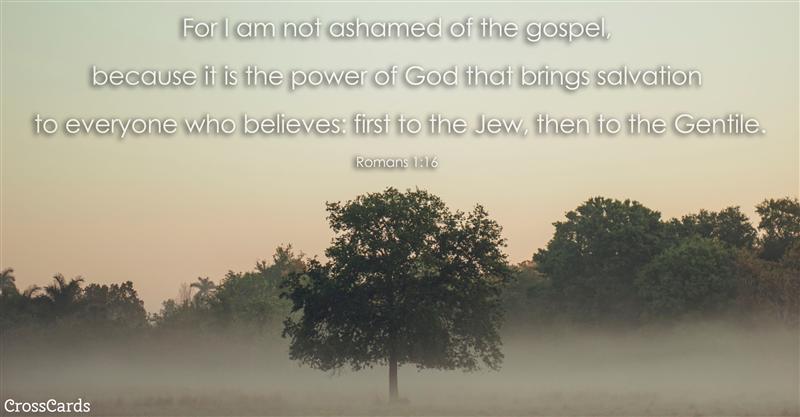 Romans 1:16 ecard, online card