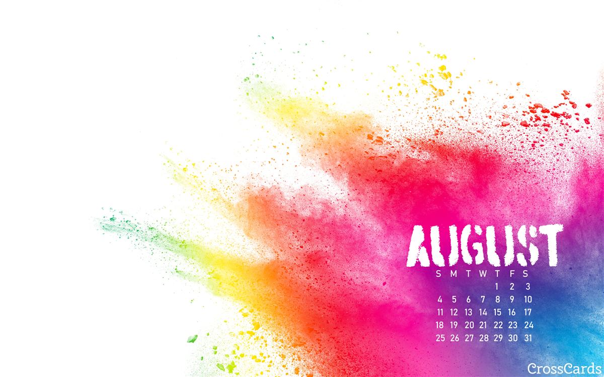 August 2019 - Paint Splash ecard, online card