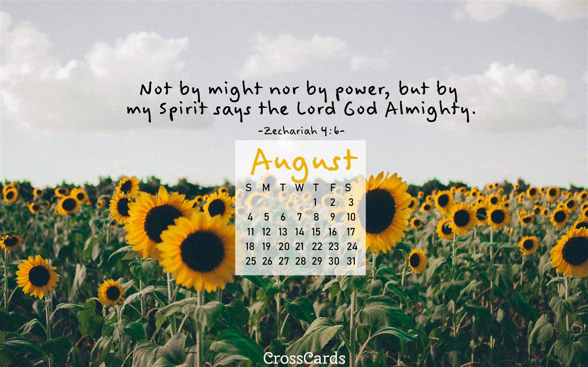 August 2019 - Sunflowers ecard, online card