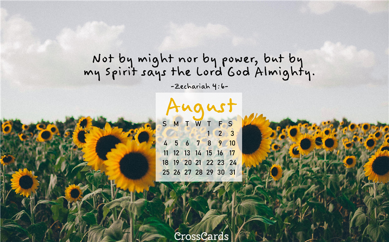 August 2019 - Sunflowers Desktop Calendar- Free August ...
