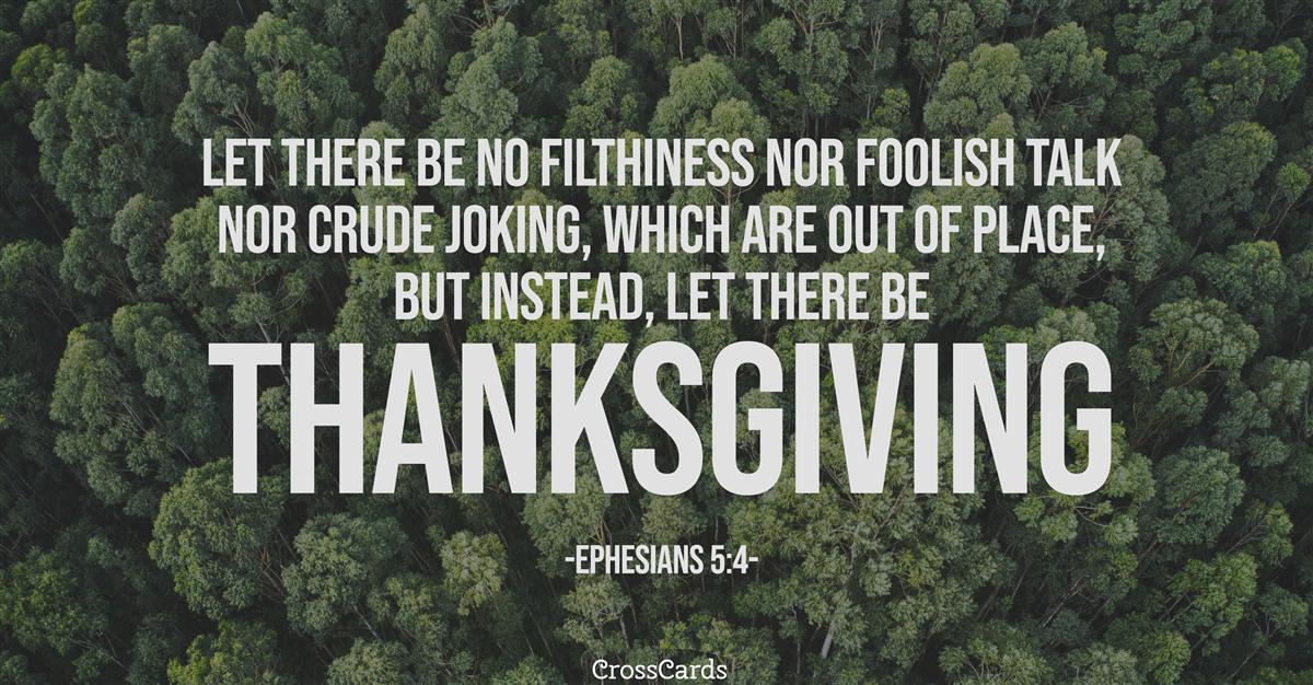 Ephesians 5:4 ecard, online card
