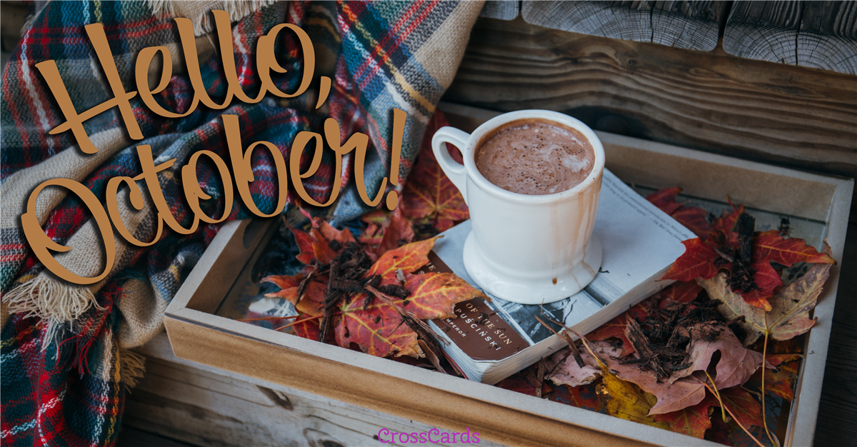 Hello October!  ecard, online card