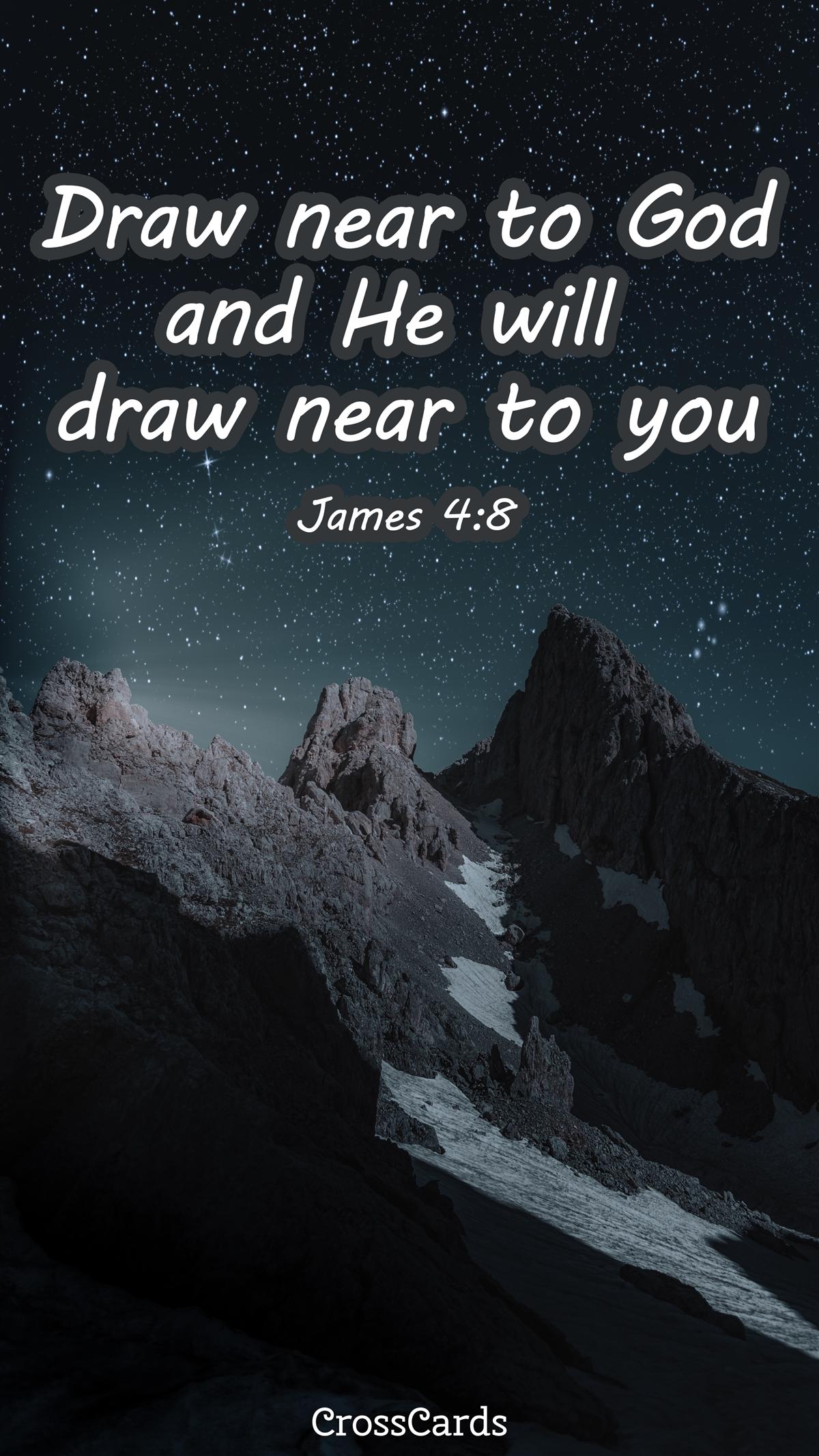 Draw Near to God wallpaper ecard, online card