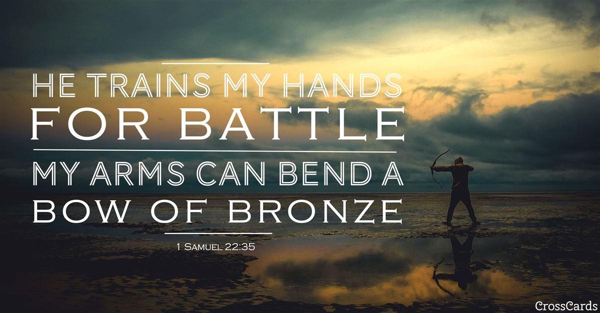 1 Samuel 22:35 ecard, online card