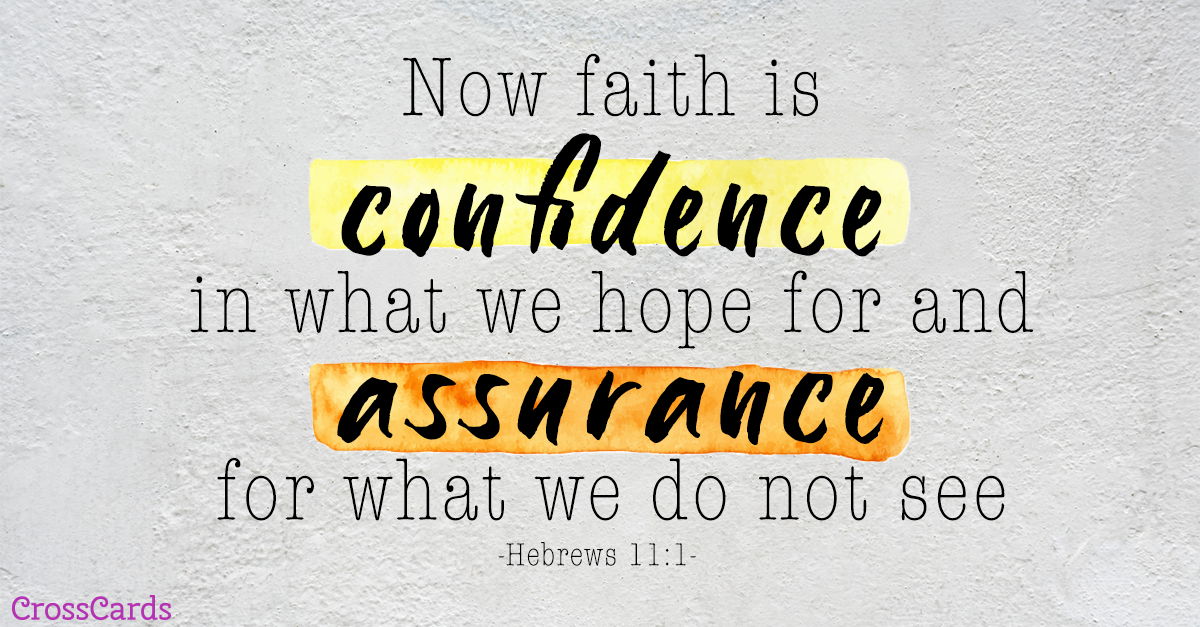 Faith is Confidence ecard, online card