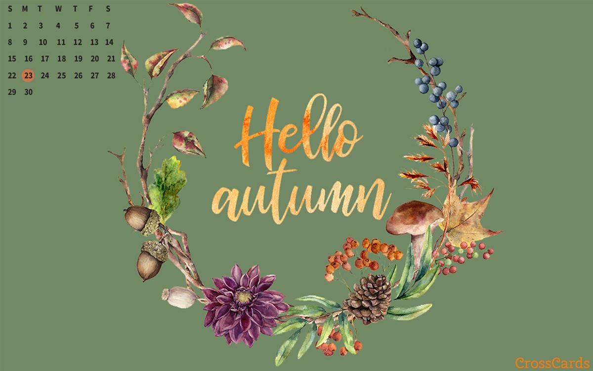 September 2019 - Hello Autumn ecard, online card