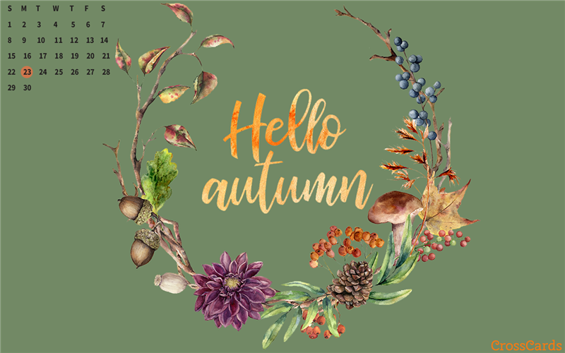 September 2019 - Hello Autumn mobile phone wallpaper