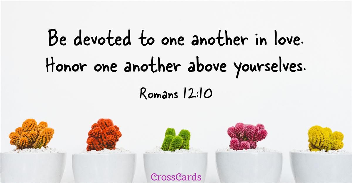 Romans 12:10 ecard, online card