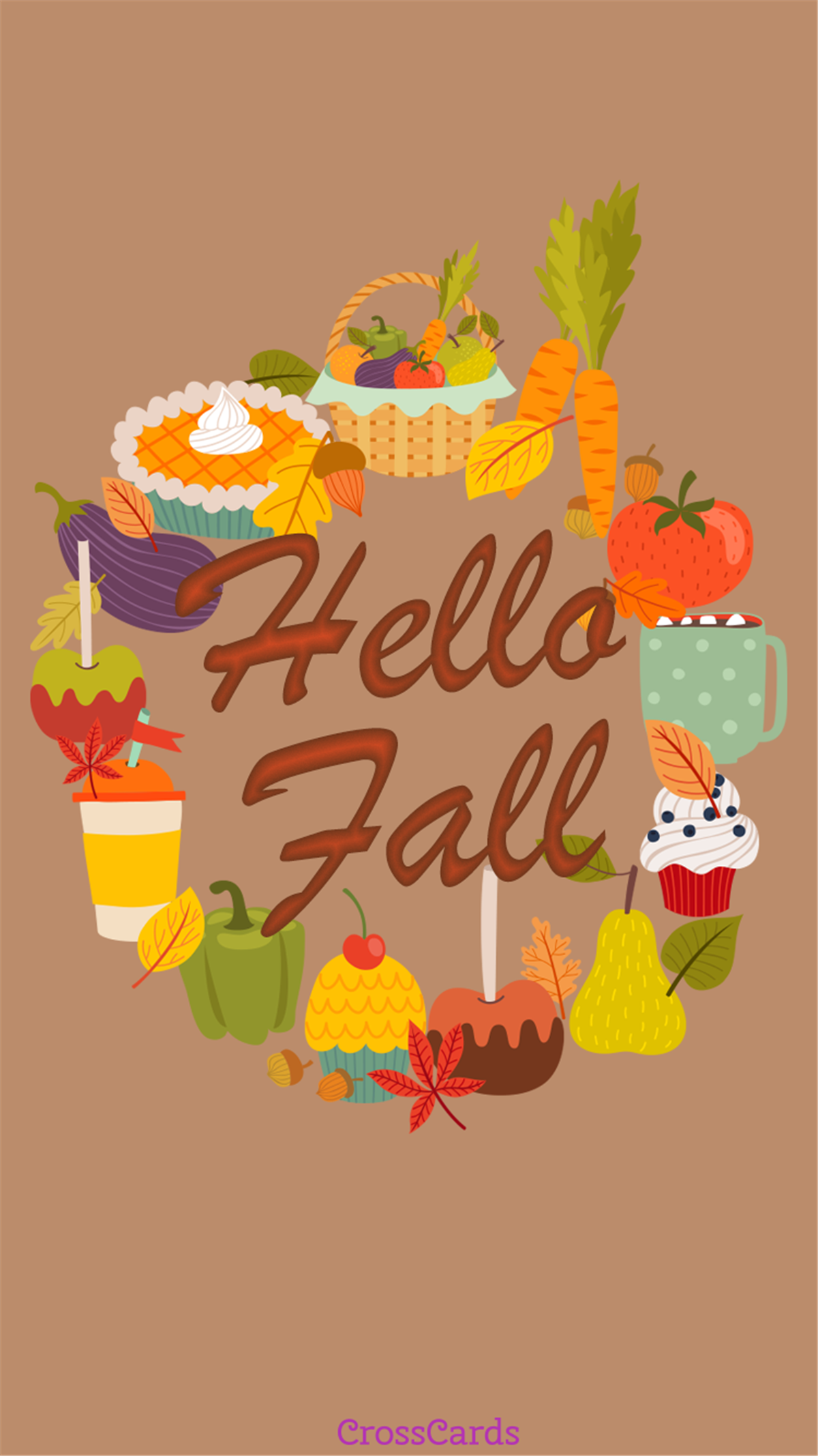 Fall foods ecard, online card