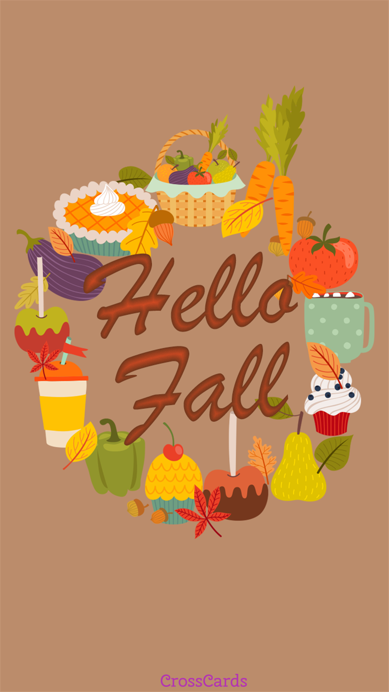 Fall foods mobile phone wallpaper