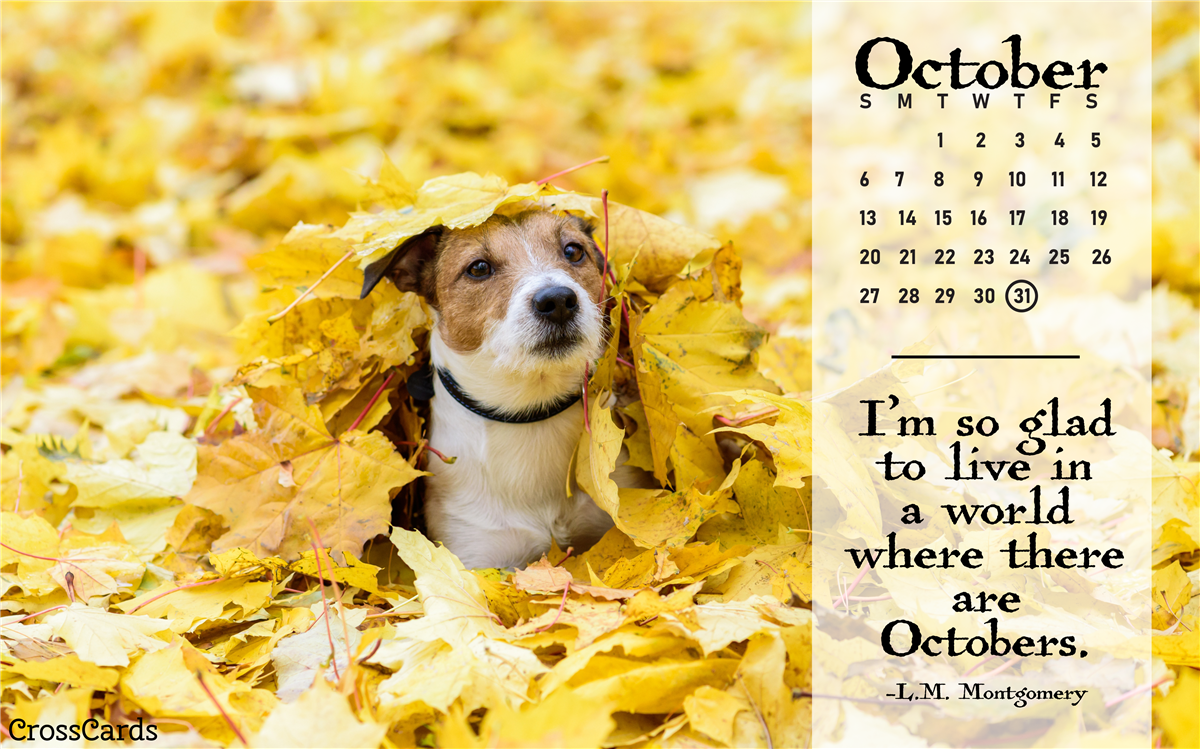 October 2019 - A World Where There are Octobers ecard, online card