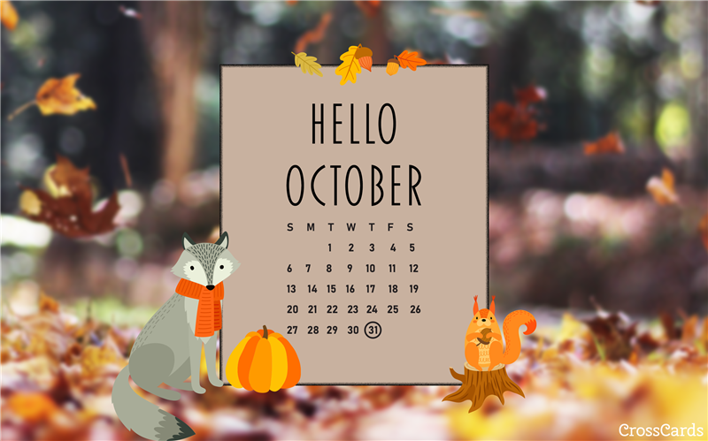 October 2019 - Hello October mobile phone wallpaper