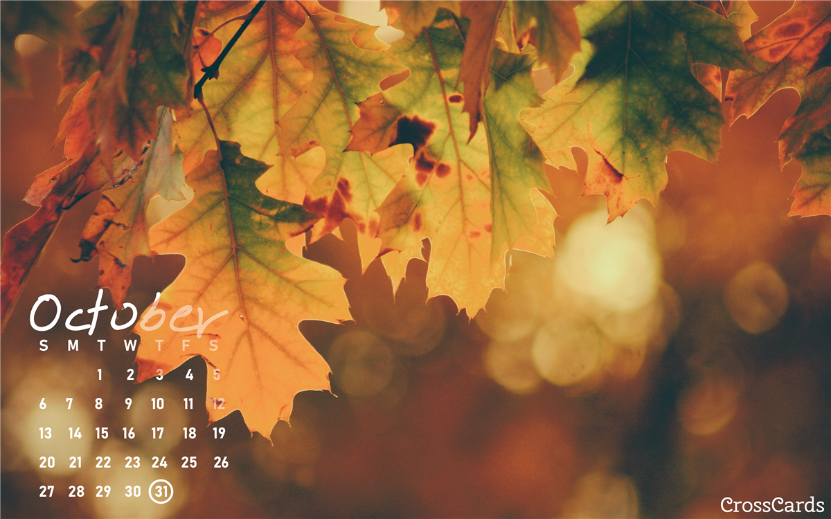 October 2019 - Leaves ecard, online card