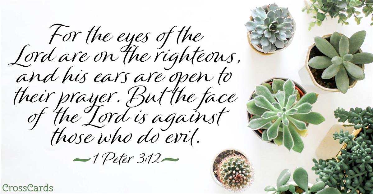 1 Peter 3:12 ecard, online card