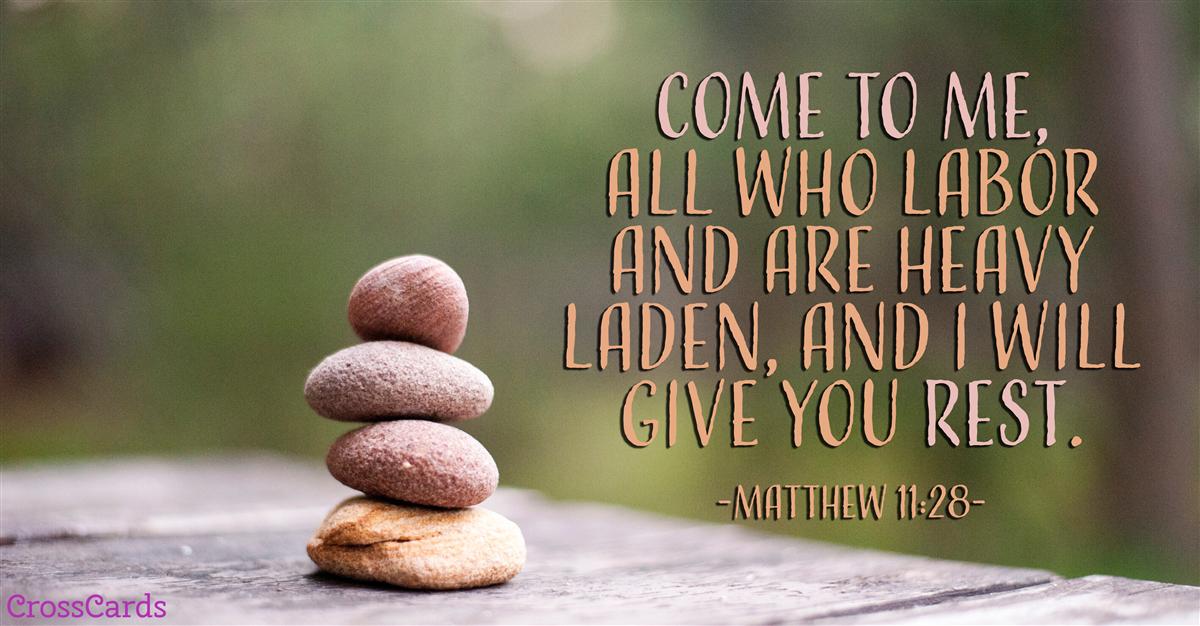 Matthew 11:28 ecard, online card