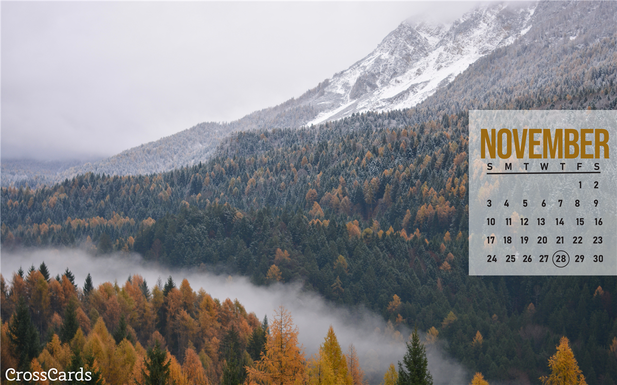 November 2019 - Misty Mountain ecard, online card