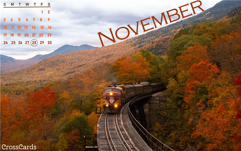 November 2019 - Train mobile phone wallpaper