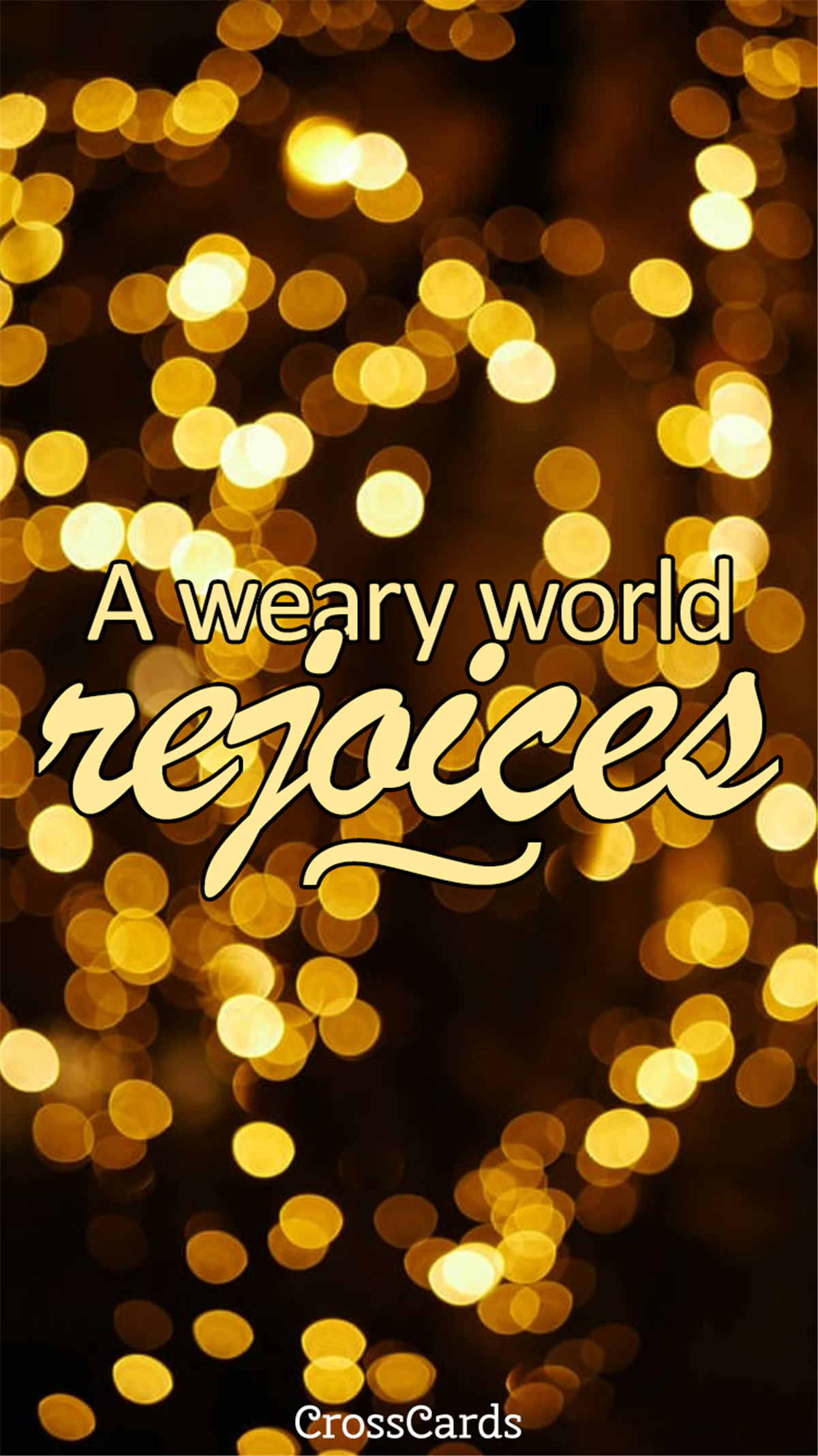 A Weary World Rejoices ecard, online card