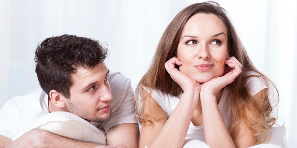 Couple in Bed with Disagreement