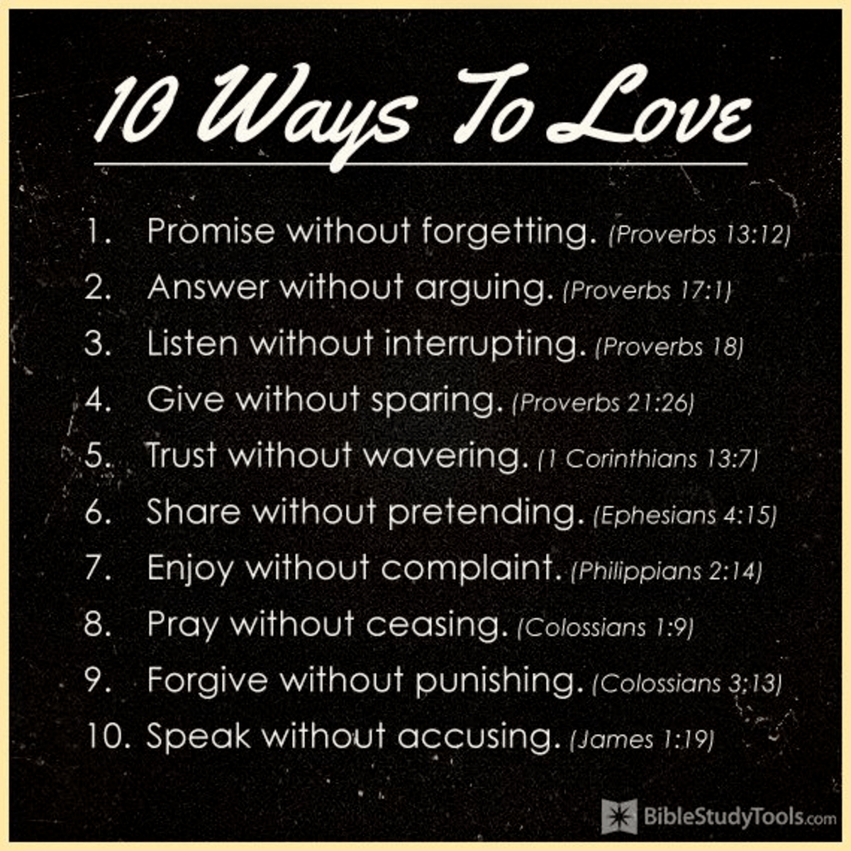 10 Ways to Love - Inspirations